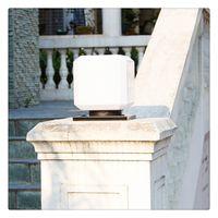 ingrosso decorazione esterna solare della lanterna-Lampada da parete decorativa da giardino Lampade a energia solare da esterno Lanterna a colonne con pilastro impermeabile