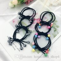 Wholesale hair colour bands for sale - Group buy 2019 Girls hair accessories rustic small beaded headband Coloured beads rubber band tousheng elastic hair bands