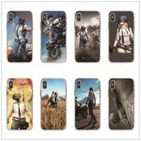 Wholesale game max resale online - Game PUBG Phone Case For iPhone Pro Max X XS MAX XR S Plus Painting Soft TPU Cover