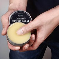 Wholesale natural waxes resale online - Mabox Natural Beard Care Beard Balm For Gentlemen g Natural Organic Moustache Wax For Whiskers Smooth Styling MMA1238