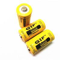 ingrosso batterie al litio cr123a ricaricabili-Batteria GIF gialla CR123A 16340 2800mAh 3.7V batteria al litio ricaricabile Spedizione gratuita