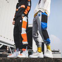 Wholesale track orders for sale - Group buy Sweatpants Men Joggers Harem Pants Mens Patchwork Streetwear Hip Hop Track Pants Korean Trousers