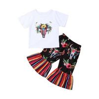 butik çocuk oyuncağı giyim toptan satış-Çocuklar Bebek Kız Giysileri Çiçek Üstleri Gömlek Pantolon Tayt Kıyafet Yaz Toddler Giyim Kız Butik Kıyafetler Çocuk Giysileri