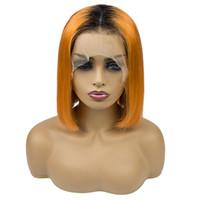 chino pelucas de cabello virgen al por mayor-Pelucas rectas naturales del cabello humano natural 100% de la Virgen Pelucas rectas chinas del frente del cordón del pelo humano 180% de densidad 10 '' 12 '' 14 '' 16 ''
