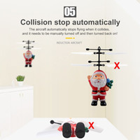 Wholesale electric aerials for sale - Group buy Flying Inductive Mini RC Drone Christmas Santa Claus Induction Aircraft RC Helicopter for Kids Christmas Gifts DHL