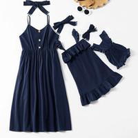New Family Look Cute Baby Summer Dress Elegant Cotton Dress