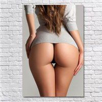 meninas sexy pintando estampas venda por atacado-(Unframed / Framed) Beautiful Big Hips Sexy Girl, 1 Pieces tela impressões Oil Wall Art Pintura Home Decor 16x24.