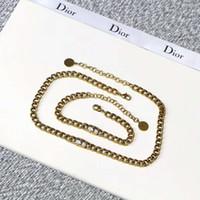 pulseira de letras venda por atacado-2019 NOVO Designer De Luxo Pulseira Colar de Jóias para As Mulheres Retro Cobre Link Pulseiras Colares com Letras de Presente