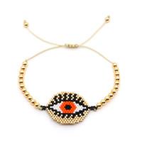 ingrosso monili dell'occhio di plastica-Go2boho MIYUKI Braccialetti Delica Bracciale in oro con malocchio per gioielli da donna Insta Fashion Bijoux Giappone Perle in plastica con piastra in oro Nuovo
