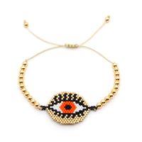 kunststoff-armbänder großhandel-Go2boho MIYUKI Delica Armbänder Gold Evil Eye Armband Für Frauen Schmuck Insta Fashion Bijoux Japan Gold Platte Kunststoff Perlen Neu
