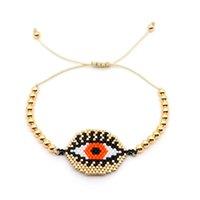 jóias de olho de plástico venda por atacado-Go2boho MIYUKI Delica Pulseiras de Ouro Do Olho Do Mal Pulseira Para As Mulheres Jóias Insta Bijoux Moda Japão Placa De Ouro Contas De Plástico Novo
