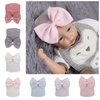 5248d400 Wholesale newborn beanies for sale - Group buy New hot babies caps with  bowknot cute newborn