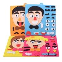 ingrosso vecchi giocattoli di figura-Divertente gioco di espressione cangiante per bambini 2-3-5-6 anni asilo bambino Montessori puzzle educativo puzzle giocattolo