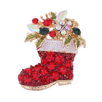 Wholesale engagement shoes for sale - Group buy Christmas brooch Christmas shoes and brooches