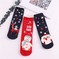 Wholesale girls socks sale for sale - Group buy WYNLZQ Girl Christmas Stocking Sock Deer Snowman Casual Warm Gift Female Socks Winter Hot Sale Festival Party Supplies Women New