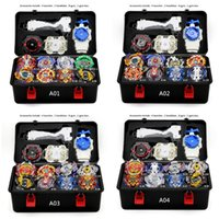 Wholesale beyblade metal 4d fights toys for sale - Group buy TAKARA TOMYNew Beyblade Burst Arena Bayblade Set Metal Fusion Fighting Gyro D With Launcher Spinning Top Blades Toys Y200428