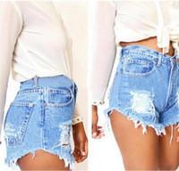 vestuário casual china venda por atacado-Plus size shorts de verão calças de brim das mulheres Street Wear cintura baixa denim shorts mulheres hot sexy curto jeans denim feminino