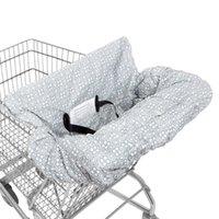 cintos de segurança de cadeira venda por atacado-Macio Carrinho de Compras Carrinho de Assento Infantil Carrinho de Compras Tampa de Assento Do Carro com Cinto de Segurança Crianças Cadeira de Proteção Almofada