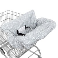 ingrosso cinture di sicurezza della sedia-Soft Baby Shopping Cart Coprisedile Infant Shopping Trolley Coprisedile con cintura di sicurezza Kids Protection Chair Cushion