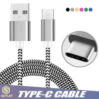 paket für datenkabel großhandel-Hochgeschwindigkeits-USB-C-Typ-C-Ladeadapter USB-Datenkabel mit 10000 Bend Lifespan Metallgehäuse für Android-Handys ohne Verpackung
