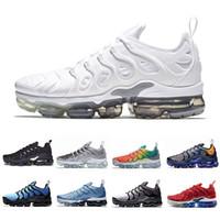 Wholesale rainbow 45 online - Newest Fades Work Blue TN Plus Men women Running Shoes Pure Platinum Bright Crimson Hyper Rainbow Mens Volt Wolf Grey sports sneakers