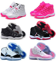 tênis de basquete para livre on-line venda por atacado-72-10 Original 11 11s women basketball shoes online cheap sale the best quality real sneakers US size 5.5-8.5 free shipping with box