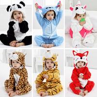Wholesale sleepwear for girls for sale - Group buy Baby Pajamas Animal Clothes for Sleeping Girl Rompers Kids Winter Baby Sleepwear Boy Cosplay Cartoon Infant Children