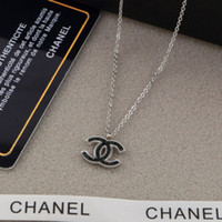 Wholesale heart white roses for sale - Group buy Designer Brand Couple Necklace Fashion Luxury Letter Pendant Necklaces K Titanium Steel Plated Women Necklace for Birthday Gift
