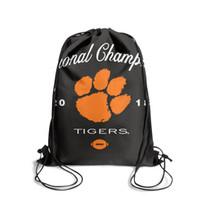 футбол характер оптовых-Clemson Tigers College Football Playoff 2018 National ChampionsFashion спортивный пояс рюкзак, дизайн ретро символ многоразовые строки packag