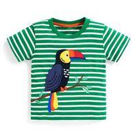 t-shirt infantil do bebê venda por atacado-Criança Infantil Bebê Recém-nascido Menino Criança 100% Algodão T-shirt de Manga Curta Top Tee Casual Crianças Roupas de Verão