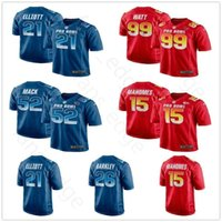 Wholesale pro jersey s resale online - 2019 Pro Bowl NFC Football Zach Ertz Drew Brees Jared Goff Aaron Rodgers Todd Gurley Ezekiel Elliott Saquon Barkley Blue Jersey