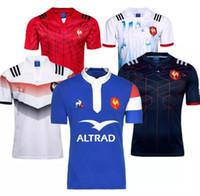 roupa da liga venda por atacado-2018 2019 Francês Rugby Jerseys 18 19 Camisa Francesa Liga camisa Casual roupas s-3xl