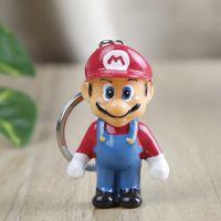 Wholesale doll toys korea resale online - 2 Styles Super Mario Doll Key Chain Pendant cm Resin Japan and South Korea Animation Creative Ornaments Pendant Toys Gift L380