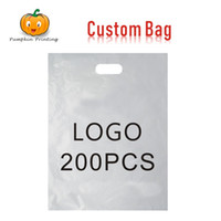 Custom Plastic Bags With Handle Party Wedding Cellophane Christmas Candy Gift Bags With Handles Packaging Logo Print