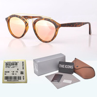 Wholesale designer shades for sale - Group buy Brand designer Sunglasses Men Women Gatsby Retro Vintage Eyewear shades round frame glass lens Sun glasses with Retail box and label