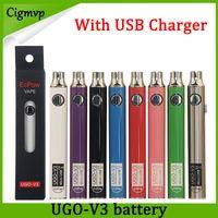 батарея usb через оптовых-Подлинный Evod UGO V 650mAh 900mAh Ego 510 аккумулятор 8 цветов Micro USB-заряд проходит через электронную сигарету O Pen Vape Battery Vs Brass knuckles