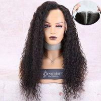 encaje ondulado de 18 pulgadas al por mayor-Invisible HD Pelucas transparentes de encaje Húmedas onduladas 100% Cutículas Nudos individuales 6 pulgadas Alineado brasileño Vigin Virgin Hair