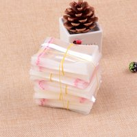 1000pcs Clear Plastic Cellophane Bag 3x3+2cm Resealable Poly Bags Mini Self Adhesive Seal Opp Bags Charms Jewelry Packaging Bags