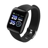 contador de niños al por mayor-116 Plus inteligente reloj de pulsera rastreador de ejercicios de ritmo cardíaco contador de paso Activity Monitor Banda Muñequera PK 115 PLUS para Android manzana