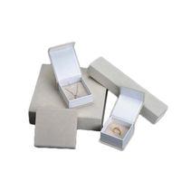 documentos de ideas al por mayor-Caja de regalo de cartón de terciopelo envoltorio de color crema pulsera brazalete pendiente colgante anillo embalaje caja de papel Nueva idea de embalaje