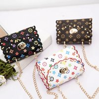 Wholesale ladies floral handbags for sale - Group buy Floral Chain Shoulder Bag kids crossbody Handbag baby fashion lady pouch summer mini party pack children gift bag FFA2106