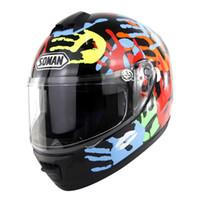 conjuntos de corrida unisex venda por atacado-equipamento de equitação set 1 peça unissex rosto cheio capacete da motocicleta confortável motocross respirável capacete de corrida