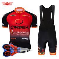 bisiklet seti orbea toptan satış-2019 Takım Orbea Bisiklet Jersey 9D Önlük Set MTB Bisiklet giyim Ropa Ciclismo Bisiklet Giyim Giymek Erkek Kısa Maillot Culotte Suit