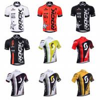 scott ciclismo tops venda por atacado-Hot 2019 ROCK RACING SCOTT Mangas Curtas Camisa de Ciclismo homens equipe de Verão MTB Bicicleta Roupas Bicicleta Roupas Sportswear K010403