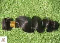 gevşek atkı saç uzantısı toptan satış-Saf Renk Brezilyalı Işlenmemiş Bakire Saç Örgü 6a Çift Atkı Gevşek Dalga Saç Demetleri% 100% İnsan Saç Uzatma