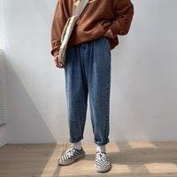 herren beiläufige baggy jeans großhandel-2019 herbst männer Haren Hosen Baggy Homme Casual Hosen Cargotasche Jeans Biker Denim Herren Blaue Farbe Lose Hosen Größe M-2XL