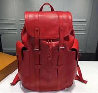 ingrosso vendita di borse nere di designer-Le borse di lusso delle donne di vendita calda zafferano le donne 2018 del sacchetto dello zaino del nero della signora delle donne di modo del progettista le fascette trasporto libero