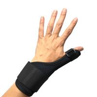 fitness links großhandel-Links rechts daumen armschiene unterstützung arthritis verstauchung handgelenkschutz frauen und männer motion fitness schwarz langlebig 15hg c1