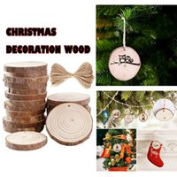 Wholesale unfinished wood crafts resale online - Natural Wood Slices inch inch Craft Wood Kit Unfinished Predri