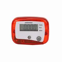 contador de calorías para trotar al por mayor-Al por mayor- LCD Podómetro Step Walking Jogging Calorie Counter Distance Fitness + Belt Clip Regalos de San Valentín